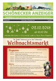 Schönecker Anzeiger November 2018