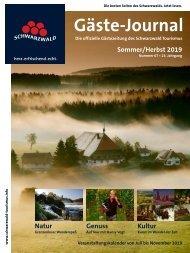 Schwarzwald Gäste-Journal Frühjahr/Frühsommer 2019