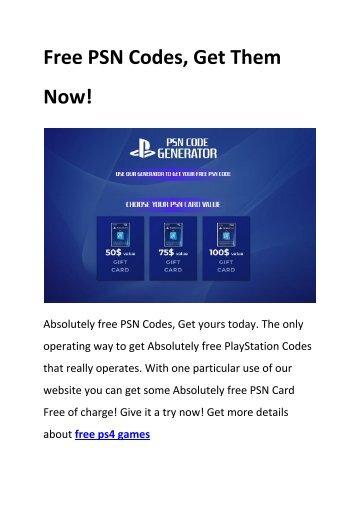 6 free psn codes