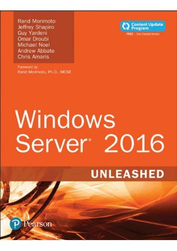Windows Server 2016 Unleashed sample pages PREVIEW