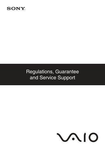 Sony VPCEB3E1R - VPCEB3E1R Documents de garantie Anglais