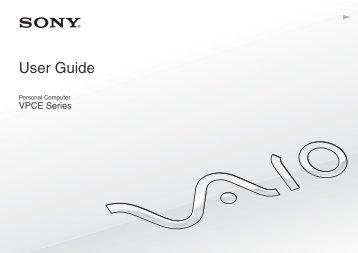 Sony VPCEB3E1R - VPCEB3E1R Mode d'emploi Anglais