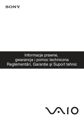 Sony VPCEB3E1R - VPCEB3E1R Documents de garantie Polonais