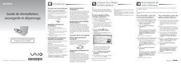 Sony VPCX13L7E - VPCX13L7E Guide de dépannage Français