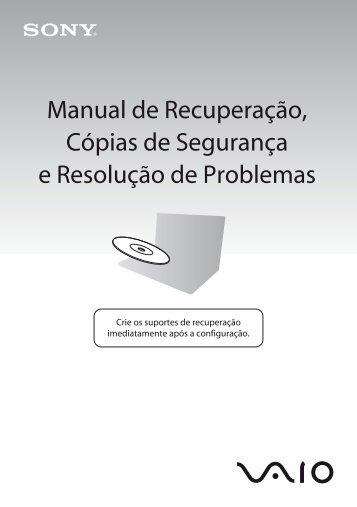 Sony VPCX13L7E - VPCX13L7E Guide de dépannage Portugais