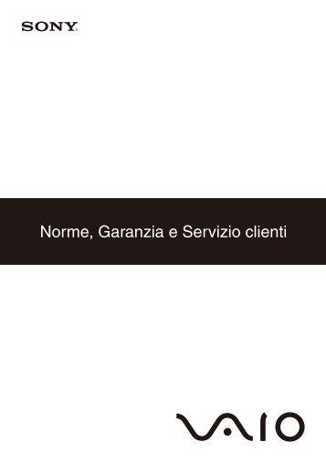Sony VPCX13L7E - VPCX13L7E Documents de garantie Italien