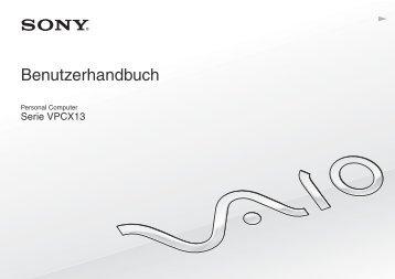 Sony VPCX13L7E - VPCX13L7E Mode d'emploi Allemand