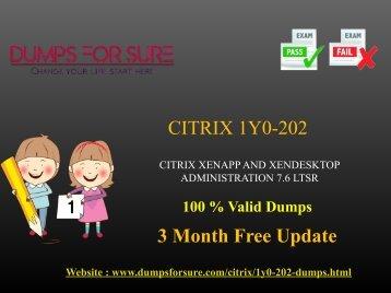 Citrix 1y0-202 Dumps