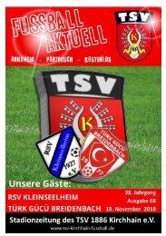 18.11.2018 Stadionzeitung -  Türk Gücü Breidenbach / RSV Kleinseelheim