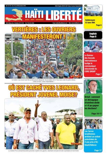 Haiti Liberte 14 Novembre 2018
