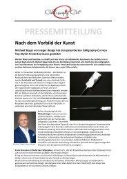 Presseinfo sieger design_Calligraphy Cut
