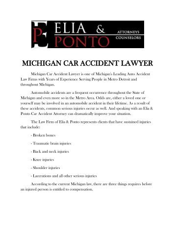 Michigan Car Accident Lawyer