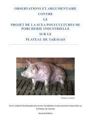 Arguments contre la porcherie industrielle