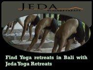 Find Yoga retreats in Bali with Jeda Yoga Retreats