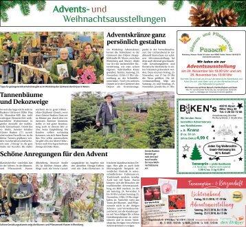 Advents- und Weihnachtsausstellungen  -15.11.2018-