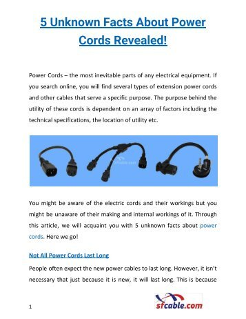 5 Unknown Facts About Power Cords Revealed