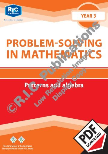 20734_Problem_solving_Year_3_Patterns_and_algebra
