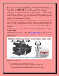 How to Troubleshoot Canon Printer Error Code 306 Quickly on Mac? Call +61-1800-431-295 for Proven Solution Service