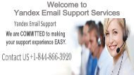 Yandex Email Customer Service Phone Number +1-844-866-3920|Yandex Email support