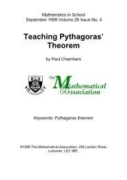 Teaching Pythagoras' Theorem - NCETM