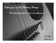 Pythagoras and His Vibrating Strings