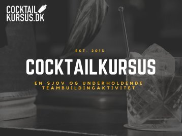 Cocktailkursus (1,5 time)