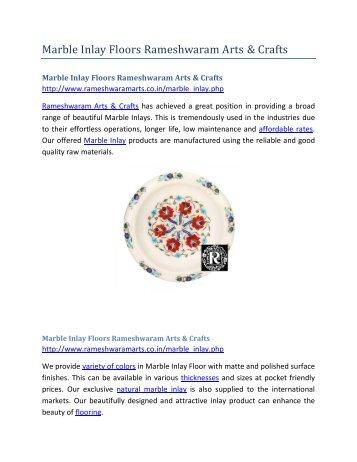 Marble Inlay Floors Rameshwaram Arts and Crafts