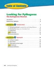 Looking for Pythagoras - Pythagorean Theorem