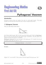 4.5 Pythagoras' theorem - Mathcentre
