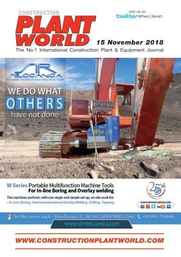 Construction Plant World 15th November 2018