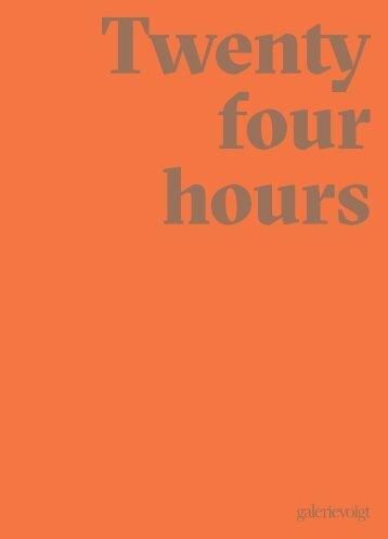 Twenty four hours - Schmuck 2019  Galerie Voigt