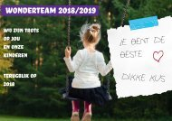 Wonderteam 2018 proef