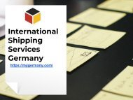 International Shipping Services Germany