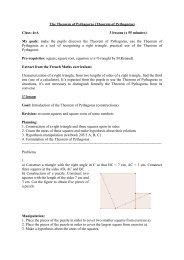 The Theorem of Pythagoras (Theorem of Pythagoras)