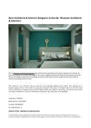 Best Architects & Interior designers in Kerala