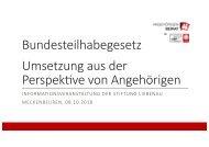 Vortrag Angehörigenversammlung Stiftung Liebenau