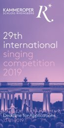 29th International singing competition 2019