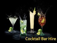 Cocktail bar Hire- Best Package for a Memorable Party