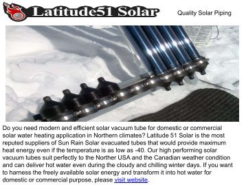 Best Quality Solar Piping