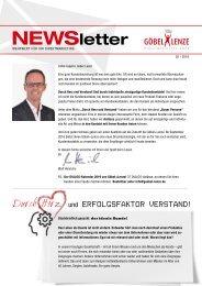 Göbel+Lenze Newsletter Ausgabe 2/2018