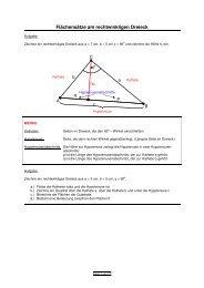 Flächensätze am rechtwinkligen Dreieck