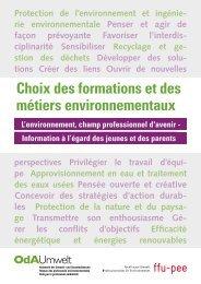 Choix des formations et des métiers environnementaux