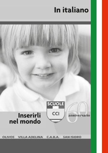 SCUOLE CCI 60º aniversario_versión en italiano