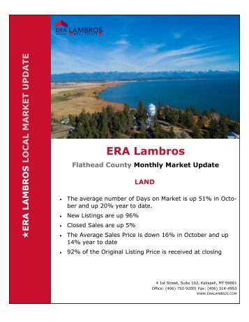 Flathead County Land Market Update - October 2018