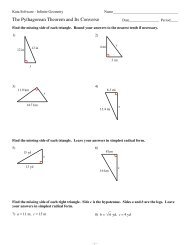 Get Kuta Software Infinite Geometry Special Right Triangles Pictures