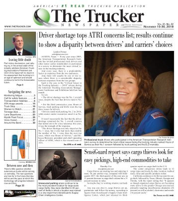 The Trucker Newspaper - November 15, 2018
