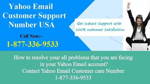 Contact Email Support Number for Yahoo  1-877-336-9533