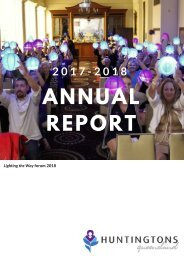 Huntingtons Queensland 2017-18 Annual Report