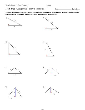 Converse Of The Pythagorean Theorem Worksheet  Annesutu