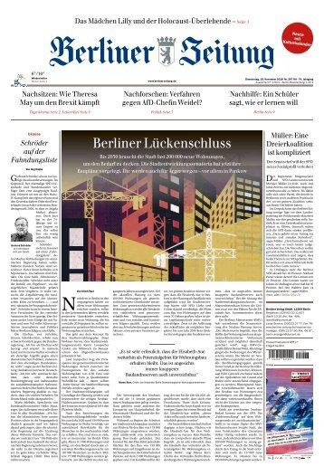 Berliner Zeitung 15.11.2018